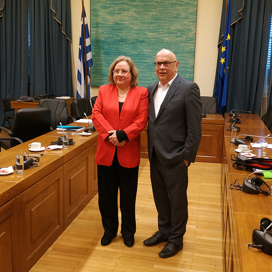 Meeting of the Chairman of the Committee on National Defense and Foreign Affairs of the Hellenic Parliament with the Ambassador of Cuba