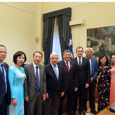 Meeting of a Greek parliamentary delegation with a Vietnamese Parliamentary Delegation