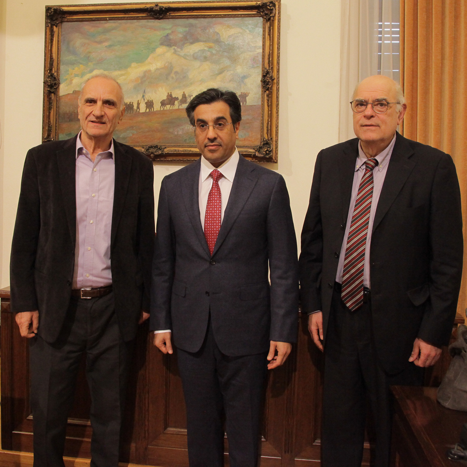 Meeting of the 2nd Vice-President of the Hellenic Parliament and the Chairman of the Committee on Public Administration, Public Order and Justice with the Chairman of the Human Rights Committee of Qatar