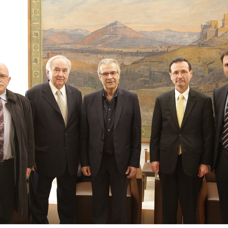Meeting of the 1rst Vice-President of the Hellenic Parliament with Professor George Sigounas, Head of the US HRSA